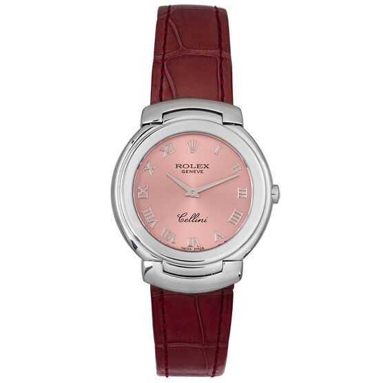 Pre-Owned Rolex Cellini Rose Dial Watch, 32mm, 18K