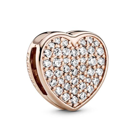 Pandora Reflexions™ Pandora Rose™ Pavé CZ Heart Clip Charm