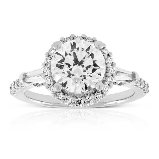 Halo Designed Diamond Engagement Ring 18K, 2.09 ct. Center