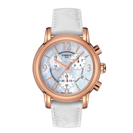 Tissot Dressport T-Lady Rose PVD Quartz Chrono Watch