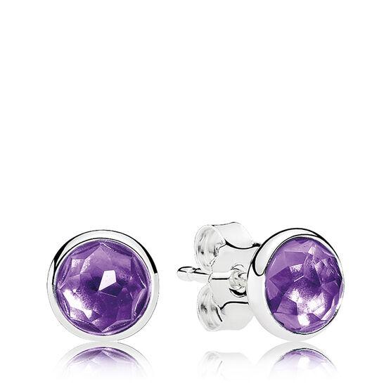 PANDORA February Droplet Earrings
