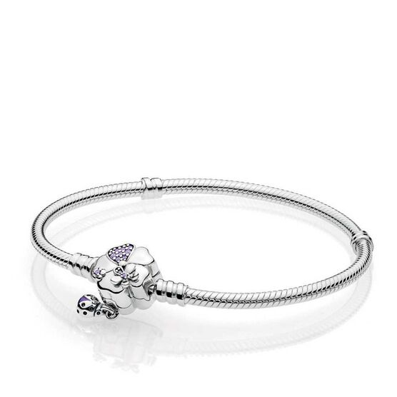 PANDORA Wildflower Meadow Crystal & CZ Clasp Bracelet