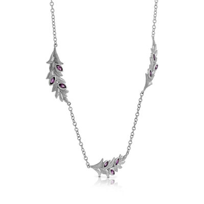 Lisa Bridge Rhodolite Garnet Petal Necklace