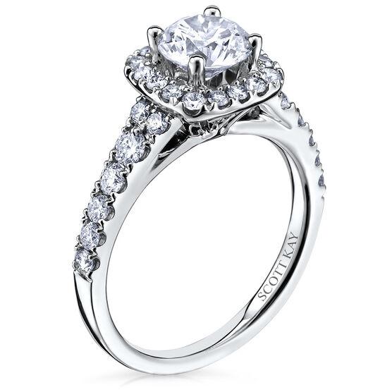 Scott Kay Luminaire Diamond Semi-Mount Ring 14K