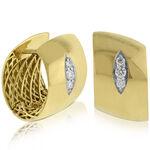 Roberto Coin Huggy Diamond Earrings 18K