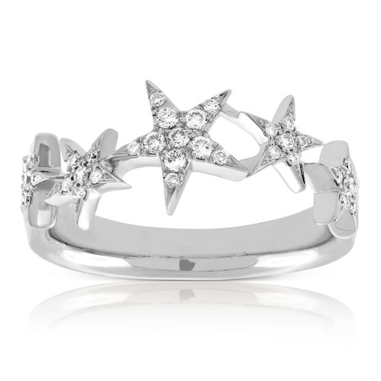 Stream of Stars Diamond Ring 14K