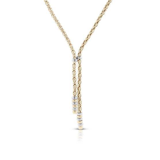 Toscano Beaded Lariat Necklace14K
