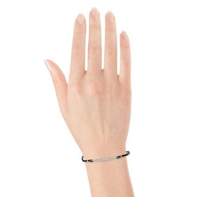 Bezel Diamond Bar Bracelet 14K
