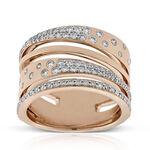Rose Gold Criss Crossing Constellation Ring 14K