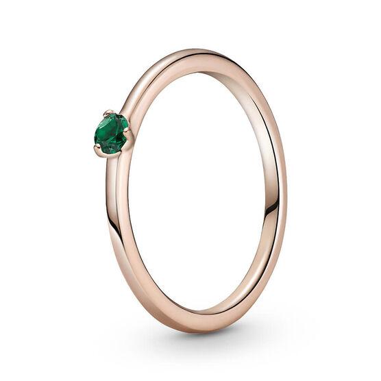 Pandora Rose™ Green Solitaire CZ Ring