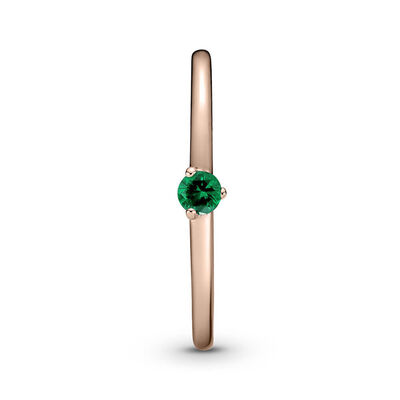 Pandora Rose™ Green Solitaire CZ Ring