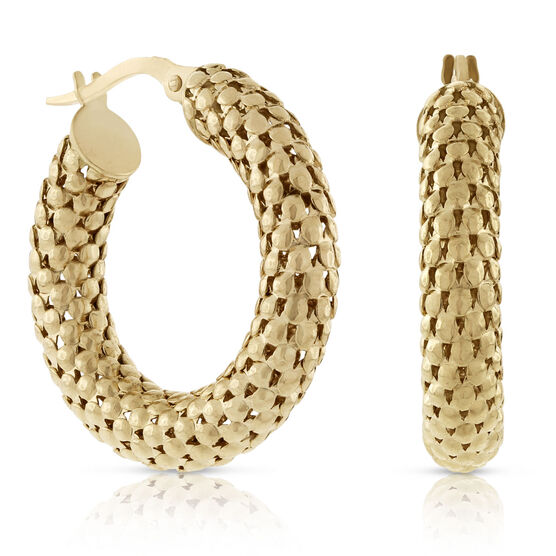 Toscano Faceted Hoop Earrings 18K