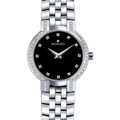 Movado Faceto Diamond Bezel & Dial Watch