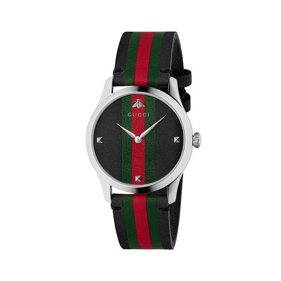 Gucci G-TIMELESS Two-Tone Leather Watch