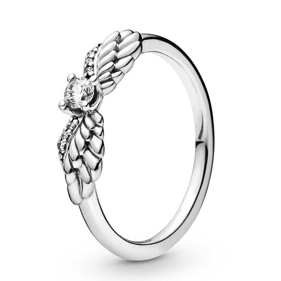 Pandora Sparkling Angel Wings CZ Ring