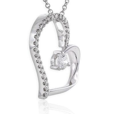 Signature Forevermark Diamond Heart Pendant 18K
