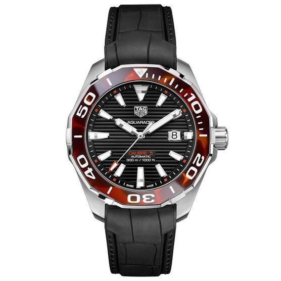 TAG Heuer Aquaracer Calibre 5 Automatic Mens Black Rubber Watch