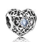 Pandora March Signature Heart Charm