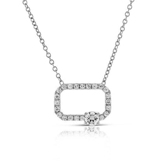 Signature Forevermark Open Square Diamond Necklace 18K