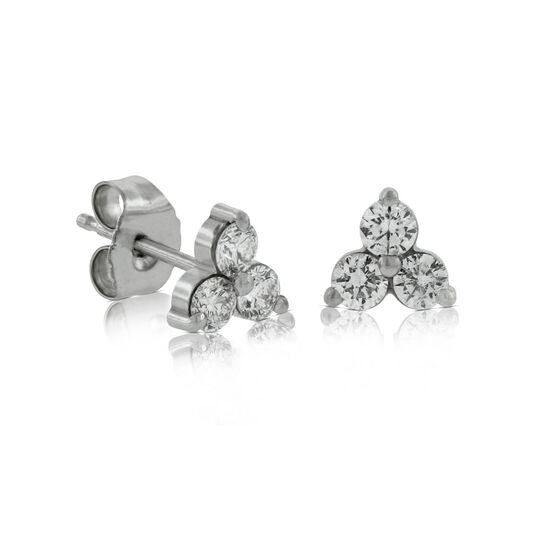 Cluster Diamond Earrings 14K, 3/8 ctw.