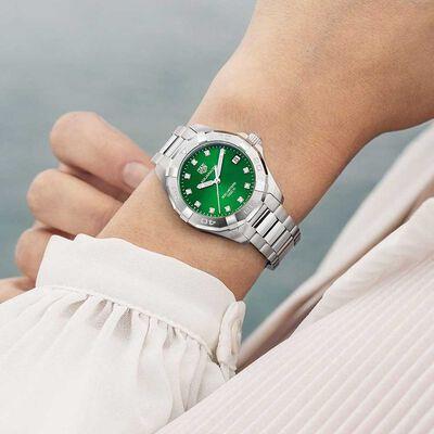 TAG Heuer Aquaracer Green Diamond Dial Quartz Watch, 32mm