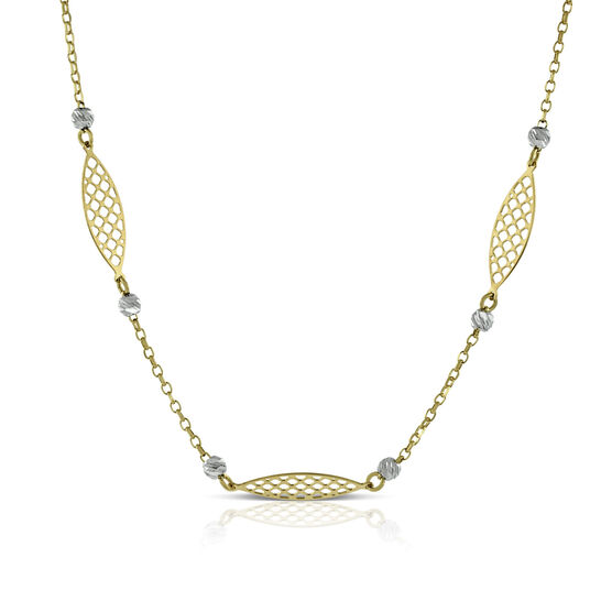 Toscano Lattice Necklace 14K
