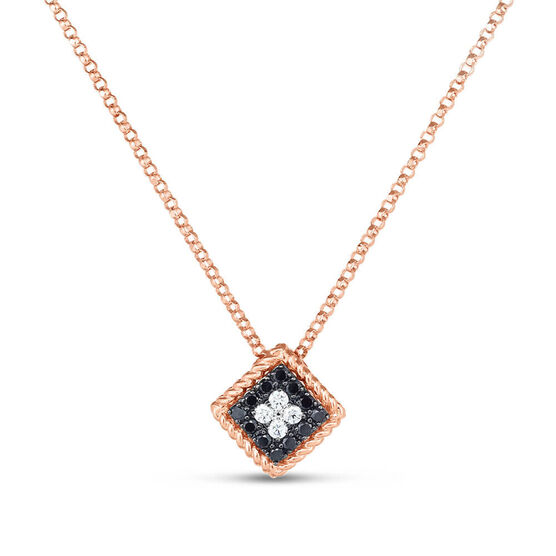 Rose Gold Roberto Coin Palazzo Ducale Diamond Necklace 18K