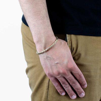 Toscano Round Brick Link Bracelet 14K