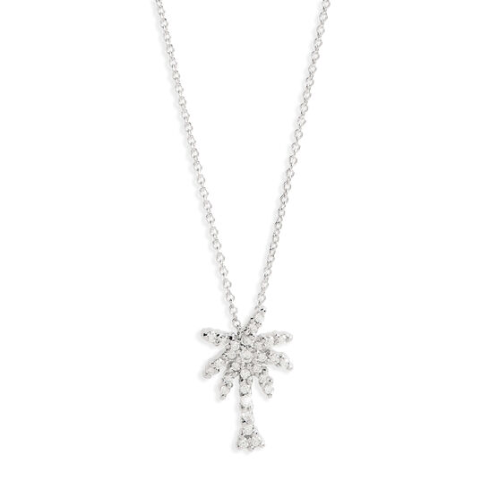 Roberto Coin Tiny Treasures Diamond Palm Tree Necklace 18K