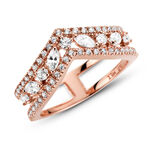 Pandora Rose™ Sparkling Marquise Double Wishbone CZ Ring
