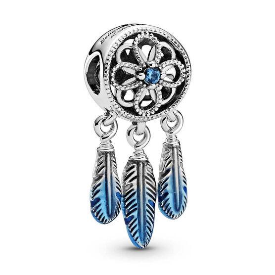 Pandora Blue Dreamcatcher Enamel & CZ Charm
