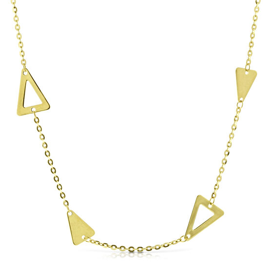 Triangle Station Chain 14K, 20""