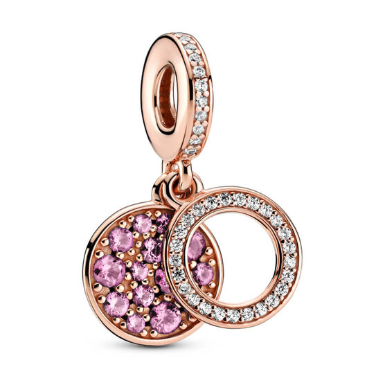 Pandora Rose™ Sparkling Pink CZ Disc Double Dangle Charm