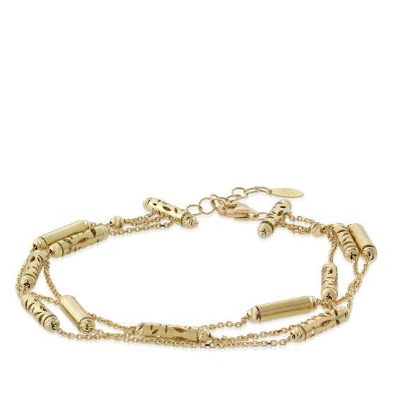 Toscano Three-Strand Beaded Bracelet 18K