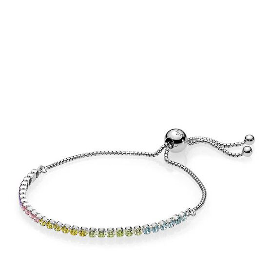 Pandora Multi Color Cz Sparkling Strand Bracelet