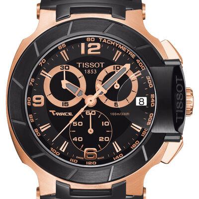 Tissot T-Race Chronograph Black & Rose PVD Quartz Watch, 45.3mm