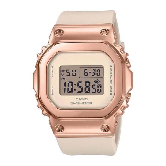 G-Shock Rose Plated Pink Strap Rectangular Watch, 43.8mm