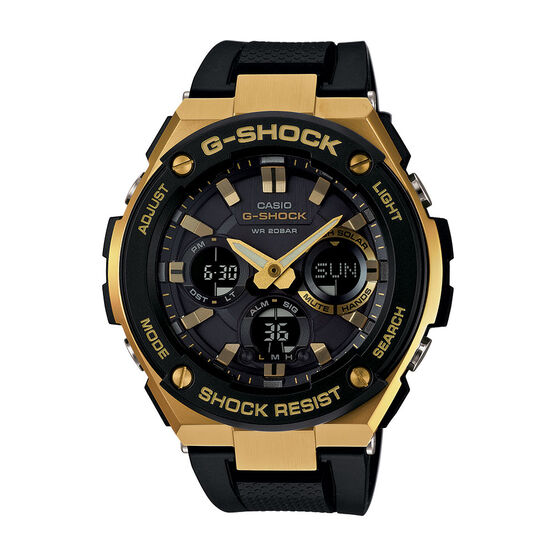 G-Shock G-Steel Gold-Detailed Solar Analog Watch