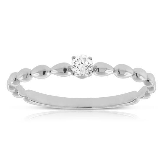 Beaded Diamond Ring 14K