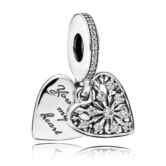 Pandora Heart of Winter Dangle CZ Charm