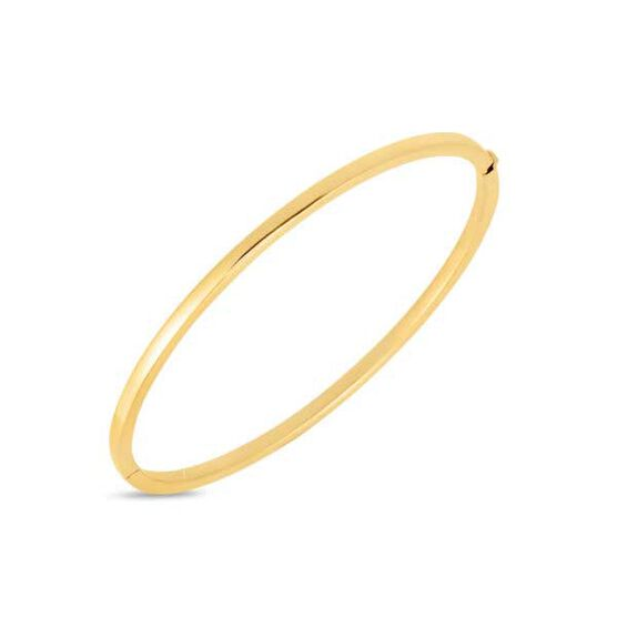 Roberto Coin Designer Gold Oval Bangle 18K