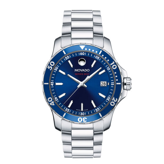 Movado Series 800 Blue Dial Watch