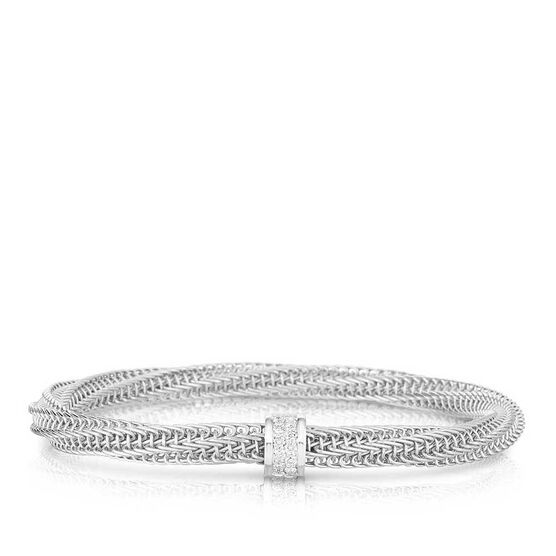 Roberto Coin Primavera Diamond Station Bangle 18K