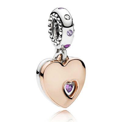 Pandora Rose™ Part of my Heart Crystal & CZ Dangle Charm