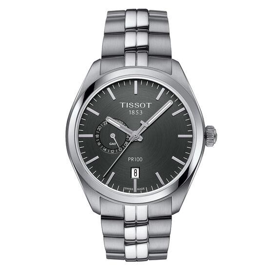 Tissot PR 100 Anthracite Dial Steel Quartz Watch, 39mm