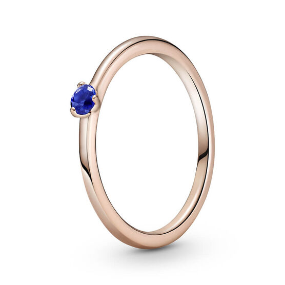 Pandora Rose™ Stellar Blue Solitaire CZ Ring
