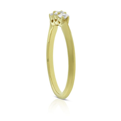 Jade Trau for Signature Forevermark Graduated 3-Stone Diamond Ring 18K