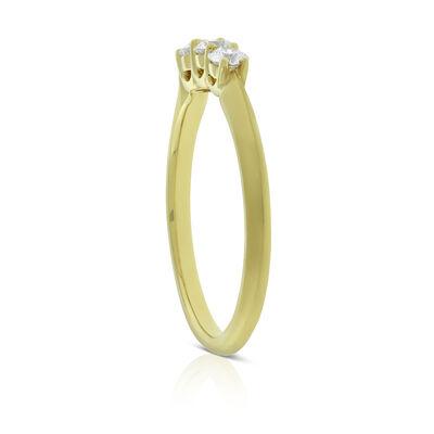 Jade Trau for Signature Forevermark Graduated 3-Stone Diamond Ring 18K