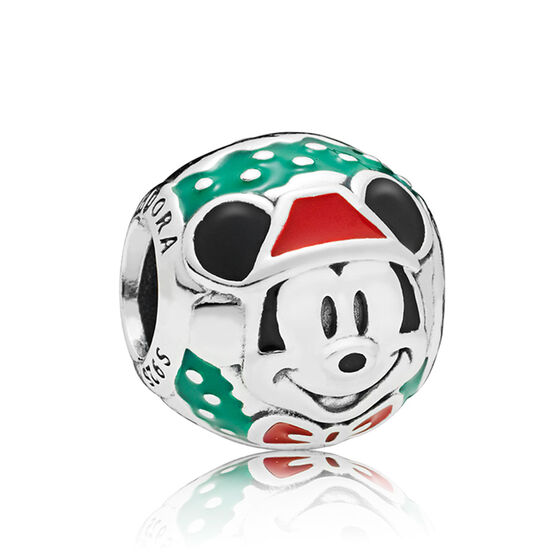 Pandora Disney, Santa Mickey Enamel Charm