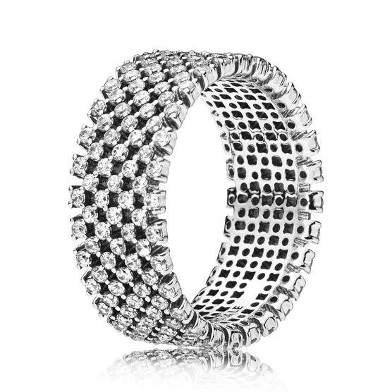 PANDORA Heraldic Check CZ Ring